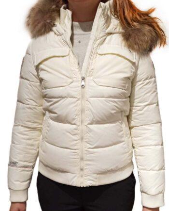 Piumino Dolomite Fitz Roy 2.0 WJ Donna Off White Cappuccio,Piumino Dolomite Donna,Abbigliamento Firmato Donna Prezzo Più Basso,Spedizione Rapida