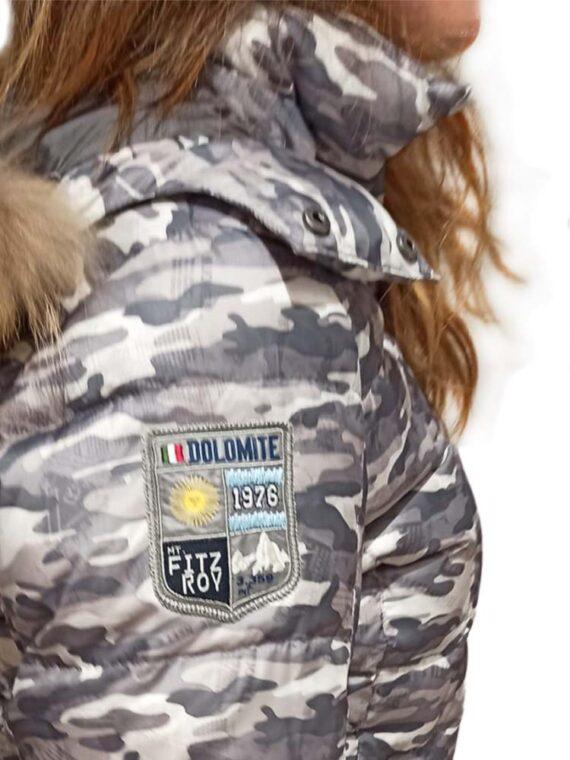 Piumino Dolomite Fitz Roy WJ Donna Cappuccio Grey,Piumino Dolomite Donna,Abbigliamento Donna Firmati Prezzo Più Basso,Spedizione Rapida,Acquisti Sicuri