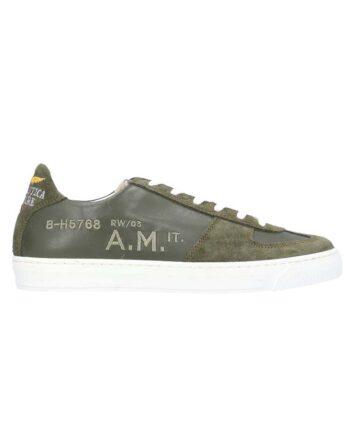 Scarpe Aeronautica Militare Sneakers Pelle Camoscio Verde Unisex,shoes air force,accessori firmati prezzo più basso,prezzo outlet aeronautica militare
