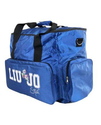 Borsone Liu jo Sport Donna Blu Tracolla,borsa sacca liu jo,accessori firmati prezzo più basso,prezzo outlet liu jo,borsa palestra,borsa viaggio