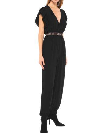 Tuta Aniye By Donna Helen Scollo V Nera,vestito donna aniye by,abbigliamento firmato prezzo più basso,tuta intera donna elegante,abito primavera