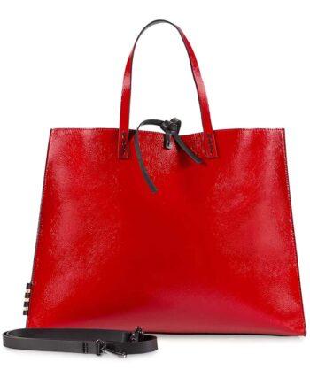 Borsa Manila Grace Donna Shopping Felicia Big Rosso Lucido,BORSA DONNA manila grace,accessori firmati prezzo più basso,prezzi outlet manila grace