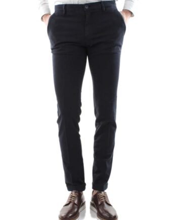 Pantalone Mason's Uomo Chino Milano Style Blu Navy.Pantalone Uomo masons cotone,modello regolare,tasche,chiusura zip e bottone
