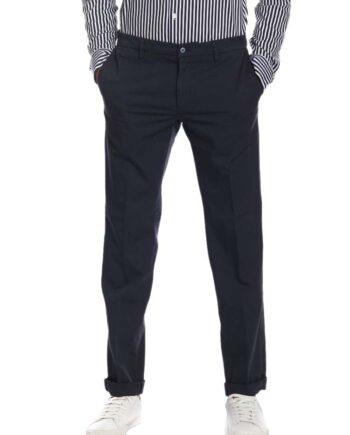 Pantalone Mason's Uomo Chino New York Blu.Pantalone Uomo masons cotone,modello regolare,tasche,chiusura zip e bottone