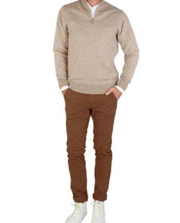 Pantalone Mason's Uomo Cargo Torino Winter Marrone.Pantalone Uomo masons cotone,modello regolare,tasche,chiusura zip e bottone