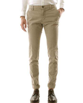 Pantalone Mason's Uomo Chino Milano Style Sabbia.Pantalone Uomo masons cotone,modello regolare,tasche,chiusura zip e bottone